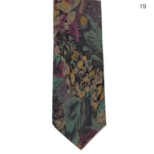 JT Beckett Rayon Floral Watercolor Tie